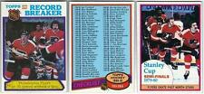 6 1980-81 TOPPS HOCKEY SPECIAL CARDS (CHECKLIST/RECORD BREAKERS+++)