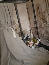 """NEW 135"""" Wide 100"""" Long Rustic Stone 100%Irish Linen Interlined Heavy Curtains"""