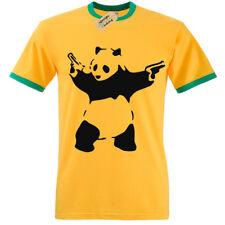 Banksy Panda Camiseta Ringer Hombre S-3XL Graffiti Urbano Moda Cool Camiseta