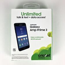 Cricket Wireless Samsung Galaxy Amp Prime 3 Prepaid Smartphone, NEW/SEALED