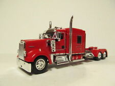 DCP 1/64 SCALE W-900 KENWORTH MID ROOF RED WITH HEADACHE RACK (TRACTOR ONLY)