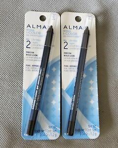 2 ALMAY INTENSE I-COLOR GEL SMOOTH EYELINER. For Blue eyes. 032 NAVY  New