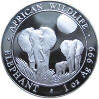 Somalia 100 Shillings 2014 Elefant 1 Oz Silber