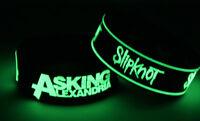 ASKING ALEXANDRIA SLIPKNOT A7S7 NEW! 2x Bracelet Wristband Glow in the Dark