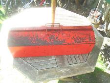 Extra Larga herramienta Vintage Caja De Almuerzo Caja de almacenamiento con cierre 61.6 X 20.5 X 18.5 Cm