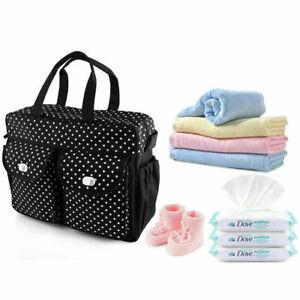 3PCs Baby Nappy Diaper Changing Bags Set Mat 3 Designs NEW 3 Colours UK