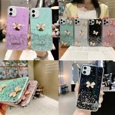 Girl's Bling Glitter suave teléfono caso mariposa para Huawei Y6S Y6P Y5P Y6 Y7 Y9