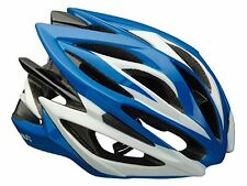AGU TX 8.0 CARBON ADULTS BIKE CYCLING HELMET 23 VENT 58-62cm BLUE & WHITE