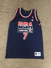 Shawn Kemp Team USA Blue Champion Jersey Youth XL Excellent Condition