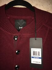 NEW Men's Under Armour Cashmere Silk Sweater WINE XL #1265252 NWT!
