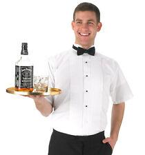 Men's White Short Sleeve Tuxedo Shirt