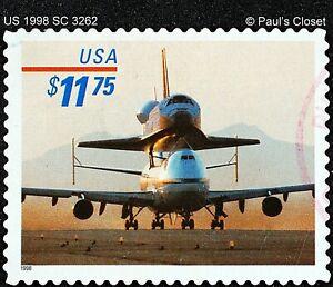 US 1998 SC 3262 $11.75 PIGGYBACK SPACE SHUTTLE UNG HANDSTAMPED CANCEL F/V FINE