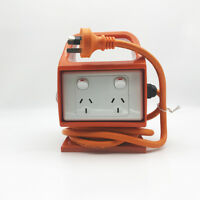 Portable RCD 2x Double 10 A 3 Pin Power Point Outlet Socket with Cord 10A Switch