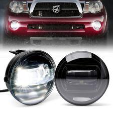 White Led Fog Lights Bumper Driving Lamp For 04 13 Toyota Tundra Tacoma Sequoia