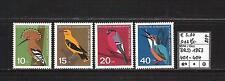 BRD 1963 Jugend: Einheimische Vögel MiNr. 401 - 404 postfrisch