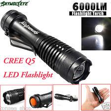 6000LM CREE Q5 AA/14500 3Mode ZOOMBARE LED Super hell MINI Polizei Taschenlampe