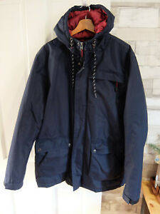 NORTHERN EXPO ● size XL ● mens navy blue hooded puffer jacket coat winter