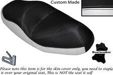 BLACK & WHITE CUSTOM FITS HONDA FORESIGHT 250 DUAL LEATHER SEAT COVER