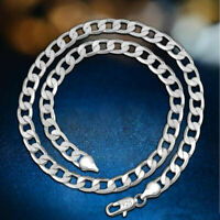 Authentic 4mm Solid 925 Sterling Silver Plated Men Women's Link Chain Necklaces