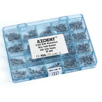 1 Box AZDENT Orthodontic Mini Roth 022 Hooks 3 4 5 Metal Brackets MIM Monoblock