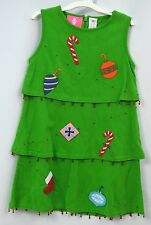 Michael Simon Girls dress Knit Embellished Holiday ugly Christmas tiered Tank 6
