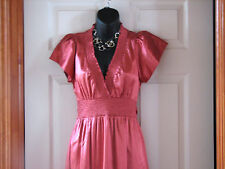 NEW BCBG~ SILK stretch Coral Red Orange Cocktail/ Evening/ Party Dress SMALL XXS