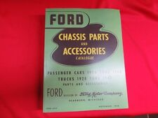 "1928-48 Ford chassis parts manual catalog ""Green Bible"" flathead  BK-1"