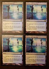 4x Adarkar Wastes FOIL Italian LP 9th Edition Magic the Gathering