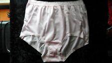 """NICE"" Vintage Soft 100% Nylon Panties With Lace Trim Light Pink Size 7 Large"