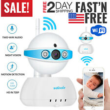 Video Baby Monitor Ip Camera WiFi Night Vision Wireless Two 2 Way Pet Portable