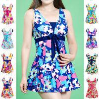 Womens Swimwear One Piece Swimsuit Beach Dress US Size 6 8 10 12 14 16 #A7009