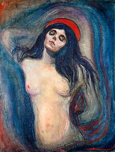 Edvard Munch - Madonna, 1894, Art Poster, Museum Canvas Print