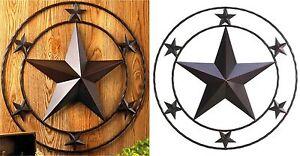 """Southwestern Cowboy ** 24"""" WESTERN STYLE TEXAS STAR WALL DECOR SIGN ** NIB"""