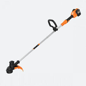 WORX WG183 13 Inch Cordless String Trimmer with Battery Charger, Black & Orange