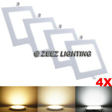 4X 3W Square Cool White LED Recessed Ceiling Panel Down Lights Bulb Lamp Fixture