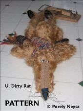 "Mohair/Plush ""U. Dirty Rat"" Rat Pattern by Neysa A. Phillippi of Purely Neysa"