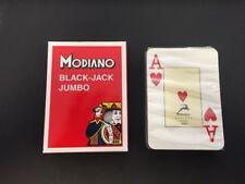 CARTE DA GIOCO MODIANO BLACK-JACK JUMBO PLASTICATE E SIGILLATE