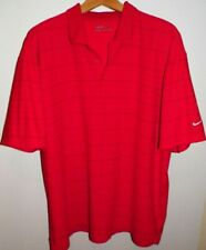 Men's 2Xl Nike Golf Nike Fit Dry Tech Golf Polo Shirt Uv Protect Red Orange