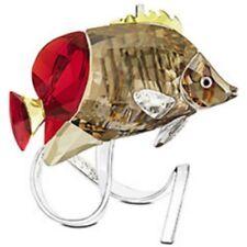 SWAROVSKI SILVER CRYSTAL CRYSTAL PARADISE-BUTTERFLY FISH, LIGHT SIAM 1040347 MIB