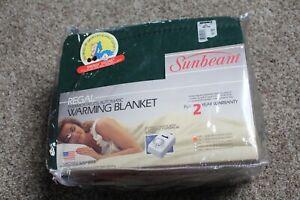 Sunbeam Heated Electric Full Size Warming Blanket - 11 Warming Settings Green