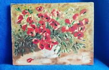 Shabby Chic Handmade Decoupage Picture on canvas POPPIES NEW BIRTHDAY GIFT