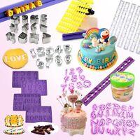 Alphabet Number Letter Fondant Cake Decorating Set Icing CookieCutter Mold Mould