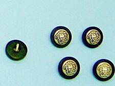 "5/8"" Silver Black Sewing-on Buttons Metal Shank ""Greek Medusa"" Head 5 pcs  #1"