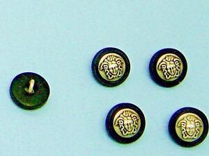 "5/8"" Silver Black Sew on Buttons Metal Shank ""Greek Medusa"" Head 5 pcs  #1"