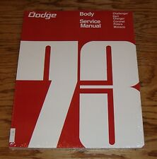 1973 Dodge Body Service Shop Manual 73 Challenger Charger Dart Coronet