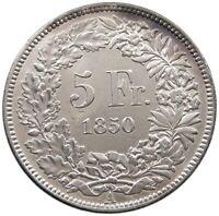 SWITZERLAND  5 FRANCS 1850 RARE #t123 019