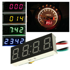Digital LED Clock Watch Car Truck Motor Motorcycle 24 Hour Time DC 7-30V HOT