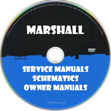 Marshall Repair Service Manuals & Schematics PDFs manuals on DVD Huge Set