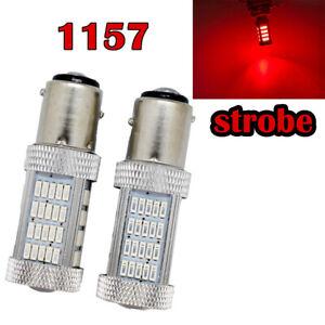 Strobe Brake Light 1157 2057 2357 2397 3496 7528 BAY15D P21/5W 92 LED Red M1 R