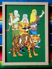 ✺Framed✺ TIGER KING Joe Exotic Poster - 45cm x 32cm x 3cm Carole Baskin